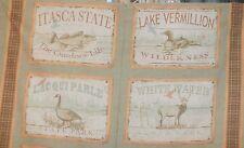 Windham Quilt Fabric Minnesota Wall Hanging Duck Deer Fish Goose Park 2/3 Yd