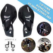 "2x Universal 7/8"" 22mm Motorcycle Bike Handguards Hand Guards Protectors Black"
