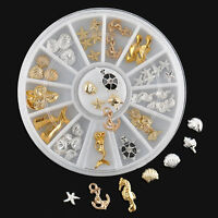 Hot Sale 3D Ocean Nail Art Alloy Decoration Summer Beach Manicure Jewelry Charms