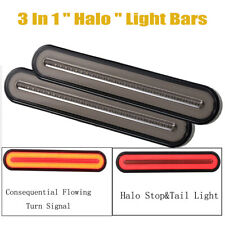 2x Halo Neon LED RV Trailer Truck Stop Flowing Turn Signal Brake Rear Tail