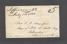 """Jefferson Va. July 1st 1848"" Powhatan to Mrs. G. W. Mumford, c/o Wm. Galt, Esq."