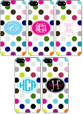 Rainbow Polka Dot Pattern Personalized iPhone 5 Custom TPU Hard Case Cover