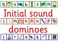Initial letter sound dominoes on CD- 3 games- letters and sounds, phonics, EYFS