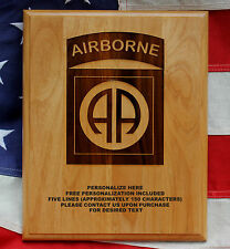 Personalized 82ND AIRBORNE DIVISION Plaque, All American, military gift, Bragg