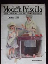OCT 1917 The Modern Priscilla Magazine COVER ONLY L G Hemsteger Illustration