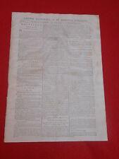 JOURNAL GAZETTE NATIONALE OU LE MONITEUR UNIVERSEL N° 317 LUN 12  NOVEMBRE 1792