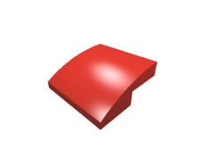 5 x [neu] LEGO Dachstein bogenförmig 2 x 2 - rot - 15068