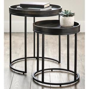 Better Homes & Gardens Nesting Tables Legs Dark Walnut Finish