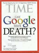 SEPTEMBER 30, 2013 TIME MAGAZINE GOOGLE COMPANY HEADQUARTERS VISION TECHNOLOGY