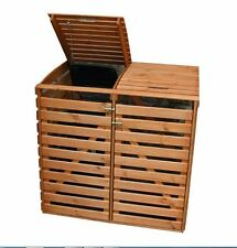 "Mülltonnenbox ""Vario III"" für 2 Tonnen, Holz braun"