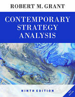 Contemporary Strategy Analysis 9E Text Only by Robert M. Grant (Paperback, 2015)