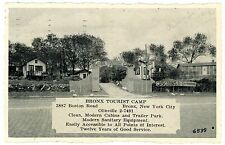 Bronx NYC NY-BRONX TOURIST CAMP ON BOSTON ROAD - Postcard