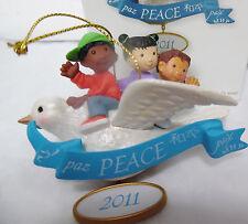 HALLMARK 2011 Believe in Peace unicef Children Dove Ornament New in box