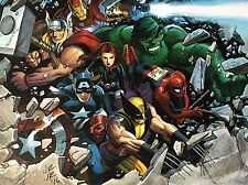 JOHN ROMITA JR giclee CANVAS Avengers SIGNED stretched HFA EXCLUSIVE with COA