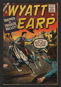 WYATT EARP #28, 1960, Atlas Comics, GD+ CONDITION, TRAPPED IN TRIGGER VALLEY!