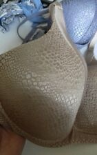 bd0eaa440bd7f WARNERS 34C worn once GOLD WIRE FREE smooth straps moulded cup SNAKESKIN  look