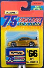 Matchbox MB 66 Opel Calibra DTM Gold 75 Challenge 1997 Mint On Card