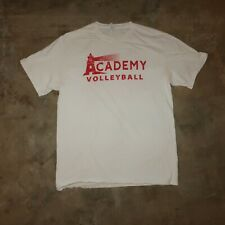 Academy Volleyball White Red Mens Medium Casual Short Sleeve T-Shirt