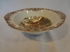 Johnson Brothers - Heritage Hall - Round Serving Bowl w/Handles- Brown Multcolor