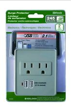 Coleman 041051 2.1A Usb Charger 2�Outlet 245J Surge Protector, White
