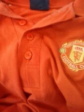 vintage man utd polo shirt with original admiral tag and sharp logo
