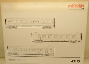 Märklin H0 43115 Ergänzungswagen zu Triebzug BR VT 11.5 DB Metall   D48