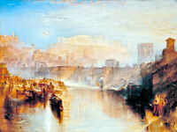 Ancient Rome Agrippina Landing by Joseph Mallord William Turner A1 Canvas Print