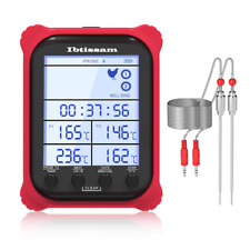 New listing Meat Thermometer Dual Probe Digital Grill Thermometer with Clock Timer Red