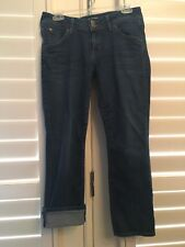 EUC Hudson Flap Triangle Pocket Size 28 Stretch Beth Baby Boot Crop Jeans USA!