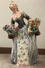Lovely Capodimonte Lady Figurine Made In Italy Signed C. Mollica