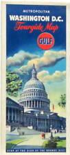 GULF WASHINGTON DC  TOURGIDE MAP  METROPOLITAN CARTE ROUTIERE  HUILE ESSENCE