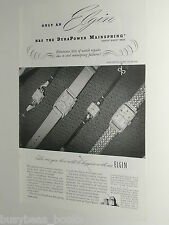 1948 ELGIN Watch advertisement, Wristwatch, mens & lades watches