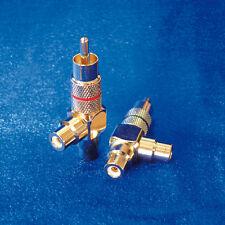 CINCHKUPPLUNG (1 x Stecker/2 x Buchse) Cinchadapter Doppelkupplung  -  1  STÜCK