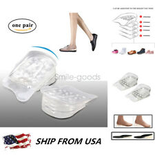 5-Layer Silicone Heel Insert Increase Taller Height Lift Shoes Insole#o