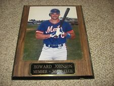 Howard Johnson  AUTOGRAPHED NEW YORK METS PLAQUE