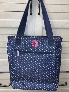 Thirty-One Take Two Tote BackPack Diaper Bag Dancing Dots Pre-Owned