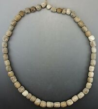 INTERESTING WOOLLY MAMMOTH FOSSIL BEADS (994R)