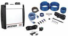 Kicker 40KX4001 KX400.1 400 Watt RMS Compact Mono Class D Car Amplifier+Amp Kit