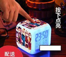 Anime Alarm Clock.Axis Powers Hetalia.APH.Colorful Light Shifting Cube.Digital