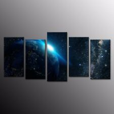 HD Canvas Print Wall Art Painting Night Planet Earth Space Star Home Decor 5pcs