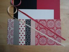 Stampin Up LOVE LETTER Designer Paper Card Kit Ribbon
