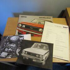 DAF 66 1300 Marathon Saloon Coupe Estate Info Press Bulletin Brochure Photo 1973