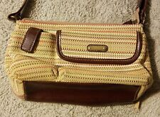 Brown Multi-Cololerd Tote/Purse Strap Pockets RN#108833 No Brand Found Used Bag
