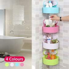 Bathroom Corner Storage Shower Rack Shelf Organiser Basket Tidy With Suction UK