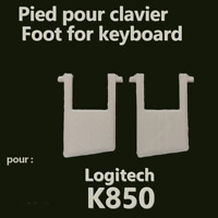 LOGITECH K850 Keyboard Spare Replacement Tilt Leg Stand Foot Feet pied clavier