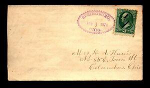 1878 Springboro Ohio Fancy Cancel Cover - L24919
