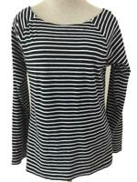 Lauren Ralph Lauren knit top Size XL black white stripe long sleeve
