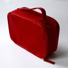 """Clarins Makeup / Cosmetic Bag Color - Red - Apx. Size 8"""" X 5.5"""" X 2.5"""" Brand New"""