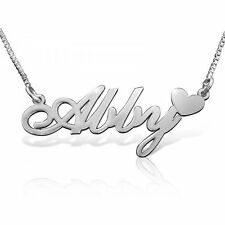 Custom Name Necklace 925 Silver Any Name Necklace Personalized Name Jewelry Gift