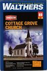 HO Scale Walthers Cornerstone 933-3655 Cottage Grove Church Building Kit